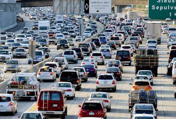 Traffic on Interstate 405 near LAX