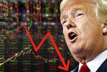 Donald Trump; Stock Market Chart Down