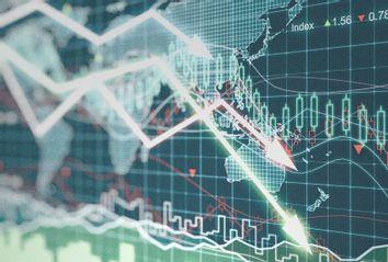 Economic Chart Down