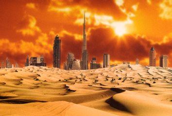Dubai Skyline Burning