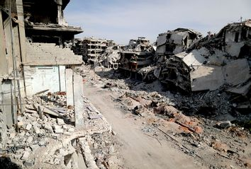 Syria Yarmouk Ruins