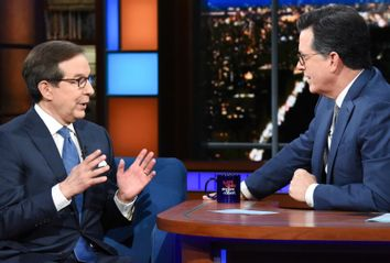 Chris Wallace and Stephen Colbert on