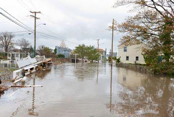 A flooded street after Hurricane Sandy.
