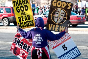 Members of the Westboro Baptist Church Protest