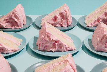 Silver Cake with Pink Frosting
