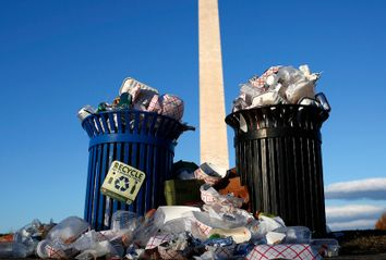 Trash At National Monument
