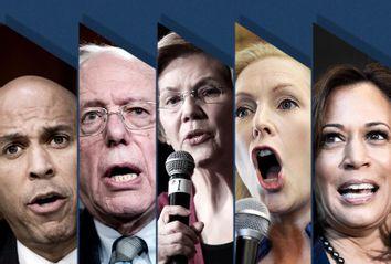 Cory Booker; Bernie Sanders; Elizabeth Warren; Kirsten Gillibrand; Kamala Harris