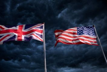 United Kingdom and American Flags