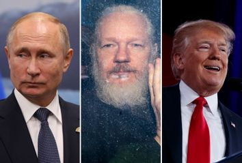 Vladimir Putin; Julian Assange; Donald Trump