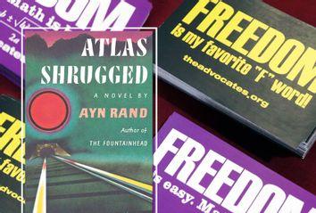 Atlas Shrugged; Libertarian stickers