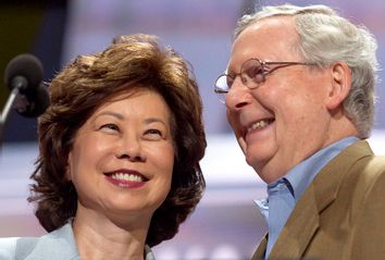 Elaine Chao; Mitch McConnell