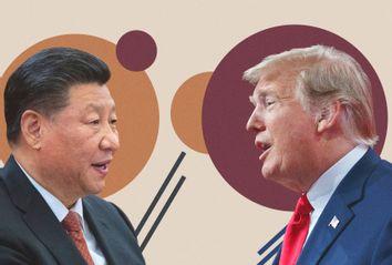 Chinese President Xi Jinping; President Donald Trump