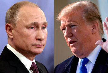 Russian President Vladimir Putin; President Donald Trump