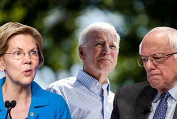 Sen. Elizabeth Warren (D-MA); Former Vice President Joe Biden; Sen. Bernie Sanders (I-VT)