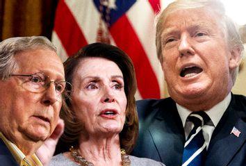 Mitch McConnell; Nancy Pelosi; Donald Trump