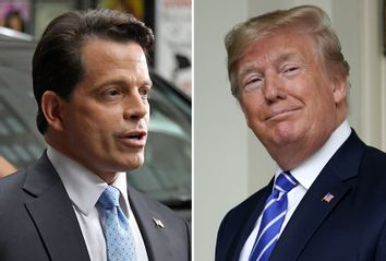 Former White House Communications Director, Anthony Scaramucci; President Donald Trump