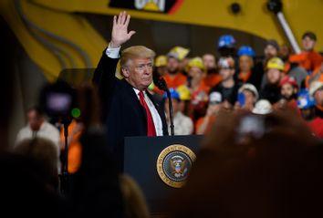 President Trump Visits Union Training And Apprenticeship Center In Ohio