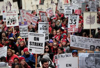 Chicago Public School Teachers Go On Strike
