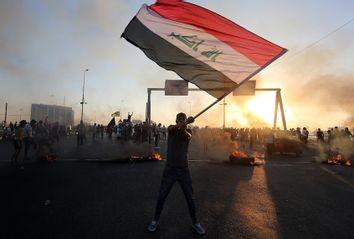 TOPSHOT-IRAQ-POLITICS-PROTEST