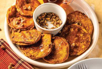 Pumpkin Cornmeal Cranberry Pancakes