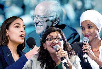Alexandria Ocasio-Cortez; Rashida Tlaib; Ilhan Omar; Bernie Sanders