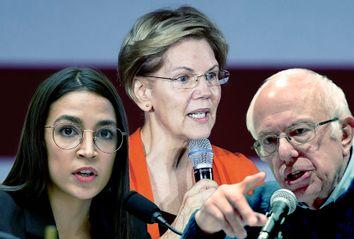 Bernie Sanders; Alexandria Ocasio-Cortez; Elizabeth Warren