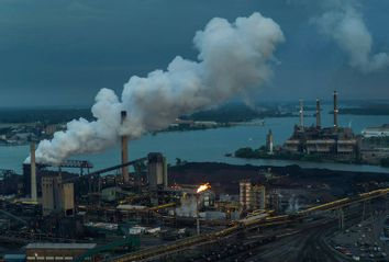 Coke Release, Steel Mill, Zug Island, Rouge and Detroit River