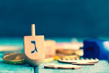 Hanukkah celebration composition