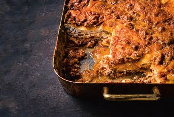 Mom's Lasagna with Potato Noodles and Meat Sauce