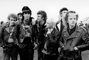 Punks; London punk scene