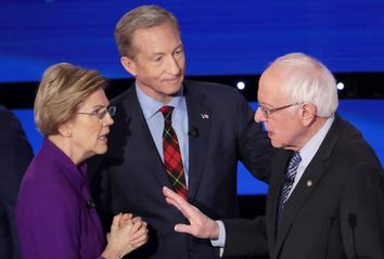 Tom Steyer; Elizabeth Warren; Bernie Sanders