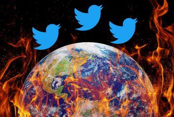 World on fire; Twitter