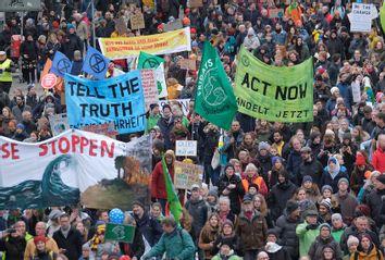 Climate protest Hamburg Germany