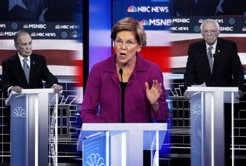Elizabeth Warren, Michael Bloomberg; Bernie Sanders