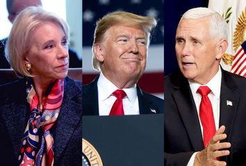 Donald Trump; Betsy DeVos; Mike Pence