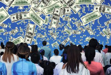 Cash raining down on the masses