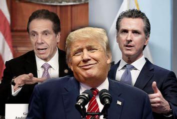 Gavin Newsom; Donald Trump; Andrew Cuomo