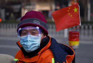 China; Coronavirus; Mask; Flag