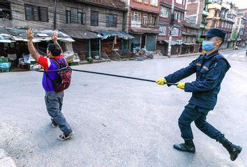 Police Arrest; Coronavirus; Social Distancing