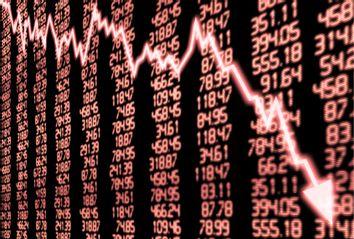 Stock Market Arrow Graph Going Down