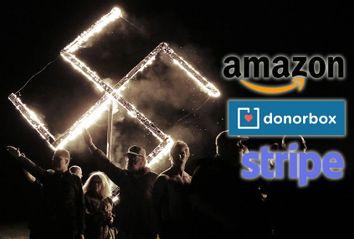 White Nationalism; Amazon; Donorbox; Stripe