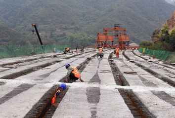 China; Bridge; construction; Kunming-Chuxiong expressway