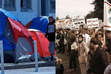Homeless; Vietnam War Protest; COVID-19