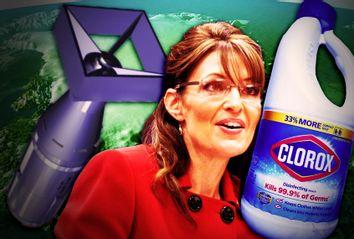 Sarah Palin, nuking Greenland and Clorox disinfectant
