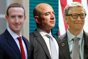 Mark Zuckerberg; Jeff Bezos; Bill Gates