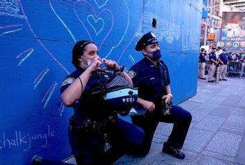 Police; Protest; Kneeling