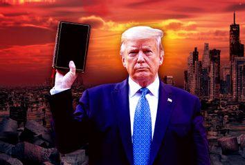 Donald Trump holding the Bible