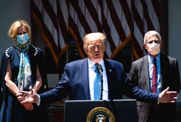 Donald Trump; Deborah Birx; Anthony Fauci
