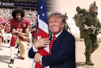 Donald Trump; Colin Kaepernick; US Troops