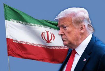Donald Trump; The Iranian flag
